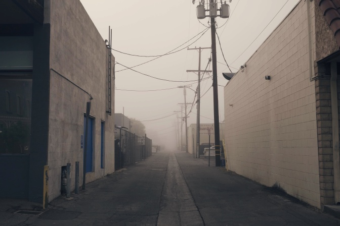 POETRY: in the alley behind the drop-in